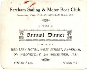8 - Dinner & Dance 1931