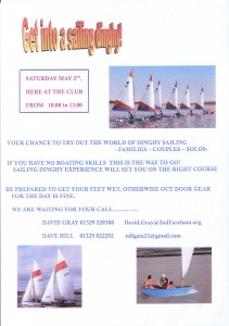 get into a sailing dinghy