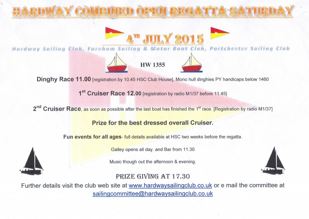 Hardway Combined open   Regatta 2015