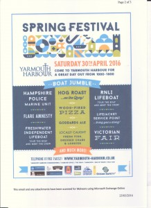 Spring Festival Yarmouth 2016