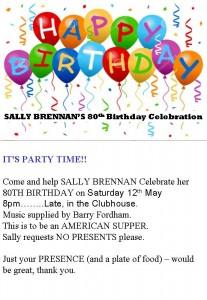 SALLY BRENNAN'S 80th Birthday Celebration